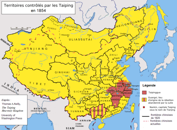 Extent of the Taiping Rebellion