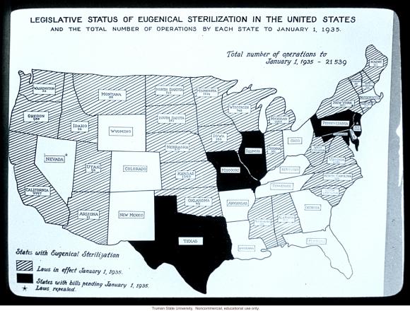 Eugenics Sterilization Law Propaganda Poster