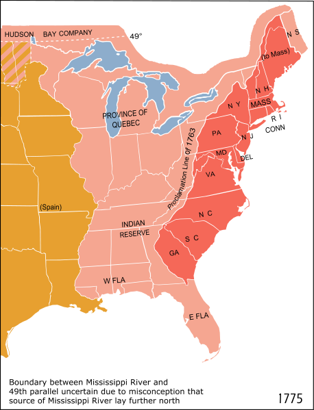 13 Colonies w/ Ohio Rivery Valley
