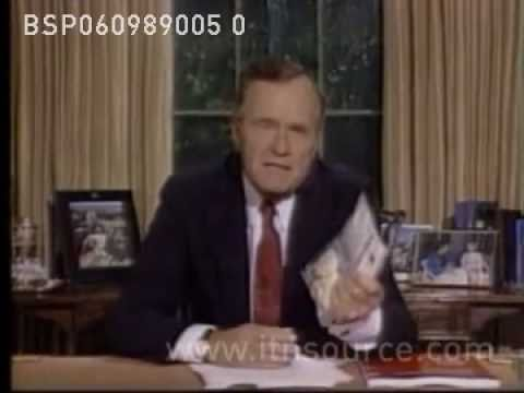 George Bush w/ Crack Bag