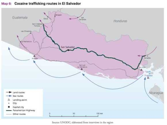 El Salvador Narco Routes