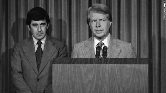 Dr. Peter Bourne (Left) with President Jimmy Carter