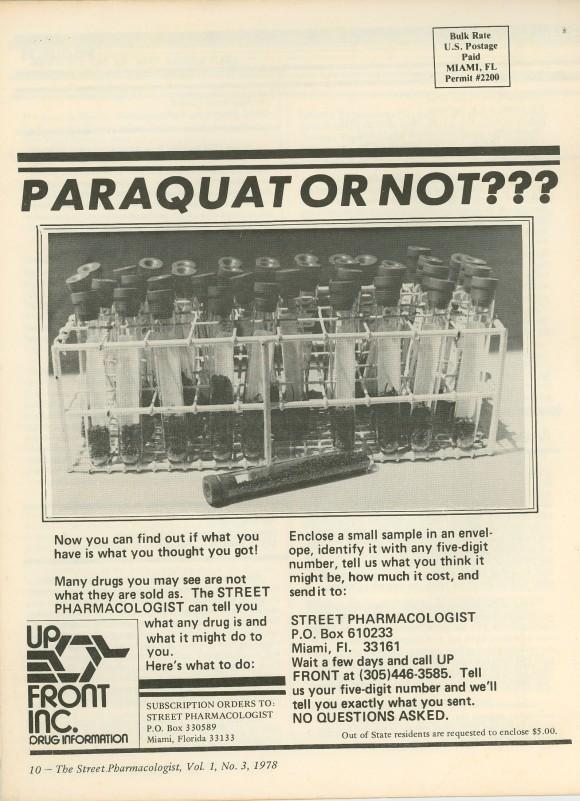 Paraquat Paranoia