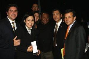 Mayor Pulido (right) with his cabal